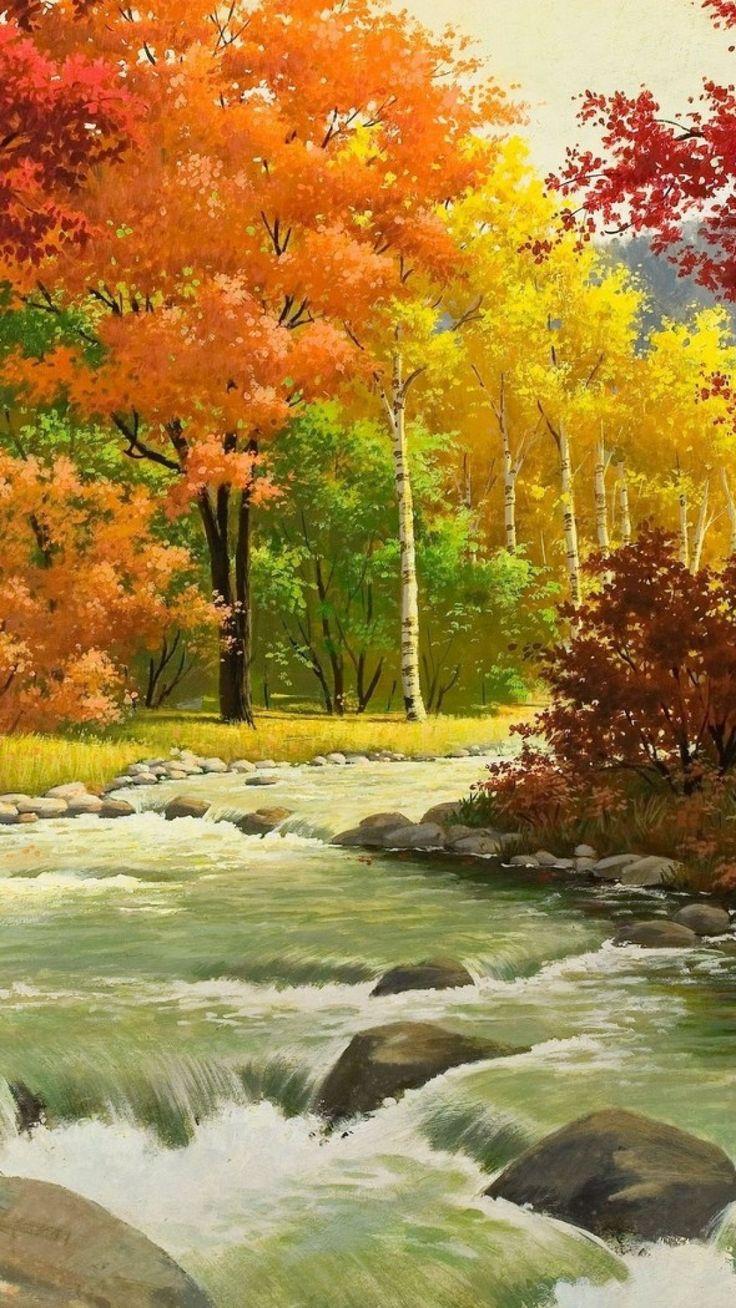 Drawn river pretty landscape Landscape Pinterest on ideas 25+