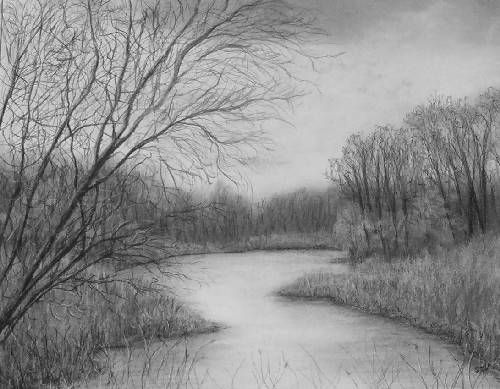 Drawn river realistic Gallery drawing Architecture images and