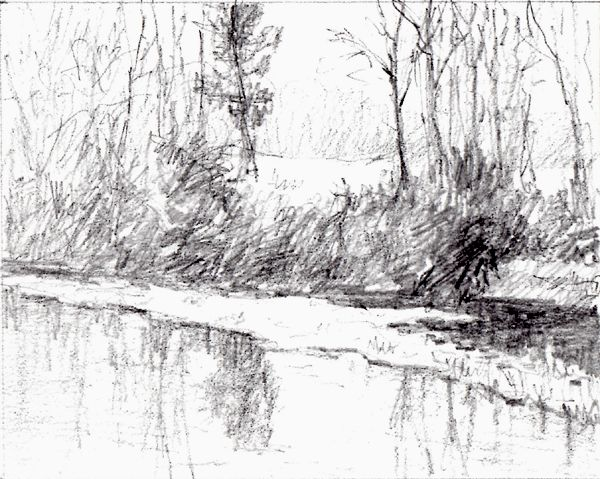 Drawn river realistic Google best pencil  and