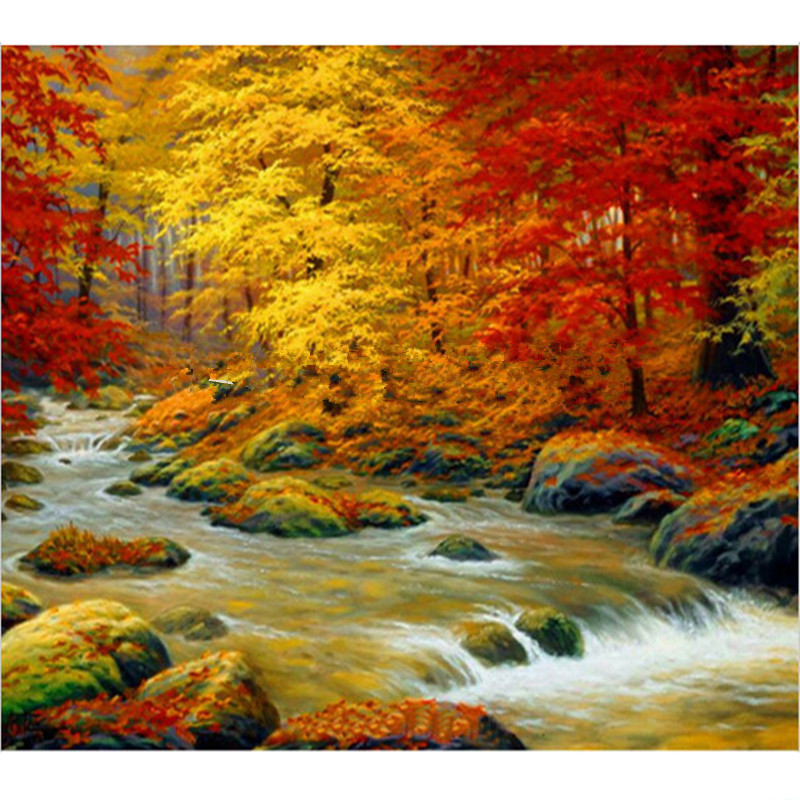 Drawn river river scenery Crafts River scenery River Buy