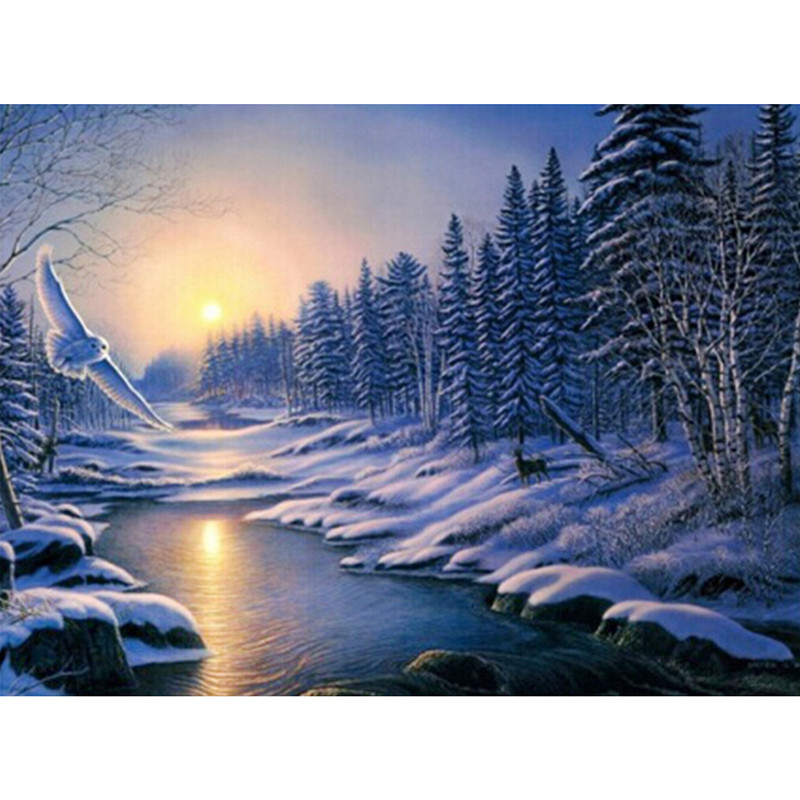 Drawn river river scenery Popular Buy 60*45cm Scenic Cheap