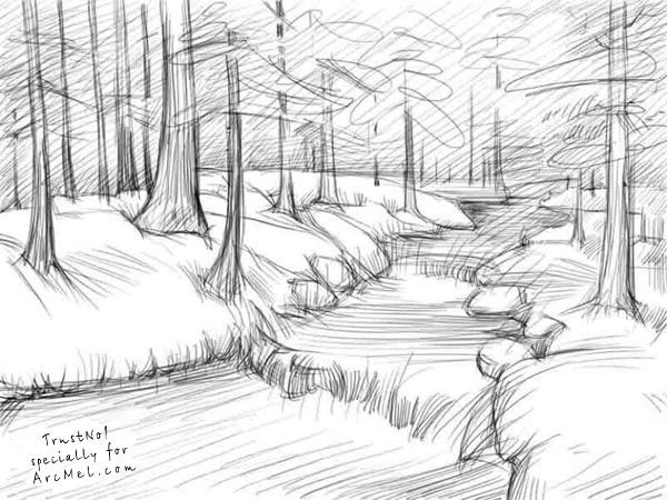 Drawn river simple Step on 25+ * draw