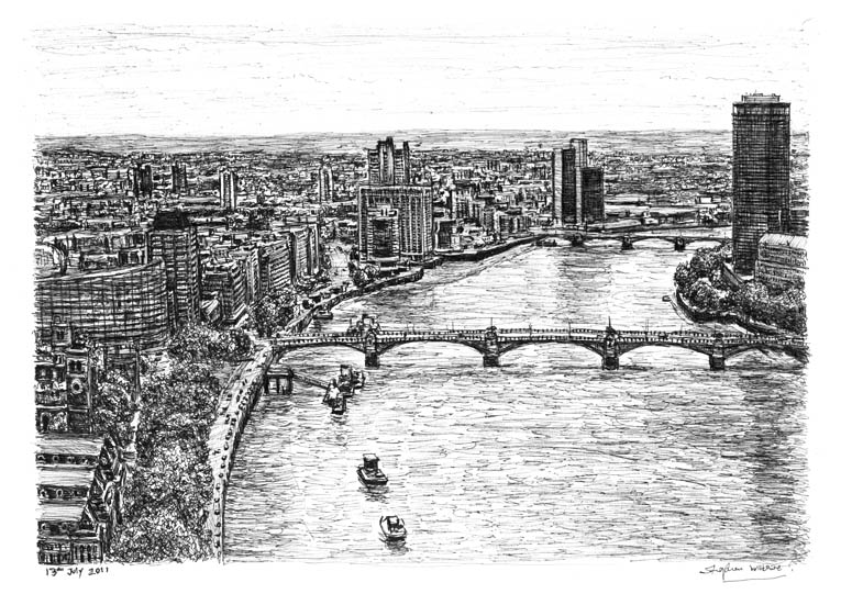 Drawn river thames river Birthday just birthday last my