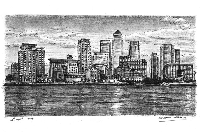 Drawn river thames river Original & Thames prints drawings