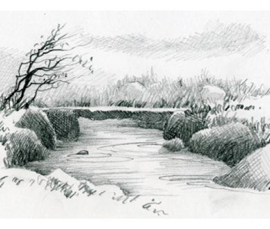 Drawn river the brook Learn sketch  Drawing about