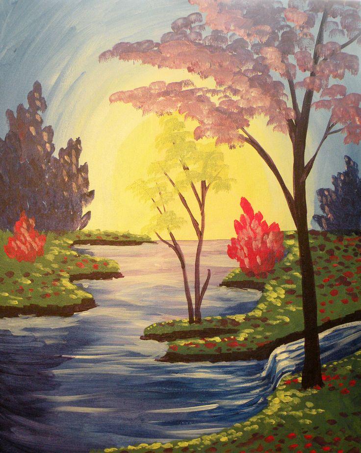 Drawn river the brook