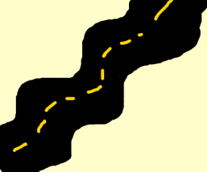Drawn road Winding Road by (drawing Winding