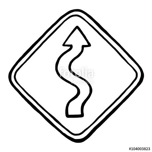 Drawn road black and white Curve white illustration illustration cartoon