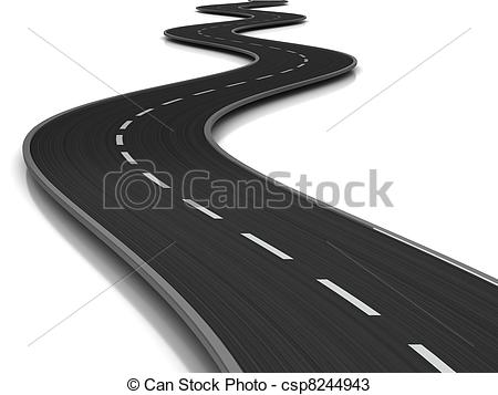 Drawn road curved Curved road Aspiration 24 of