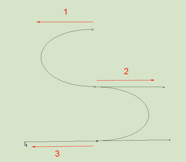 Drawn road curved shape Drawing tool with pen The