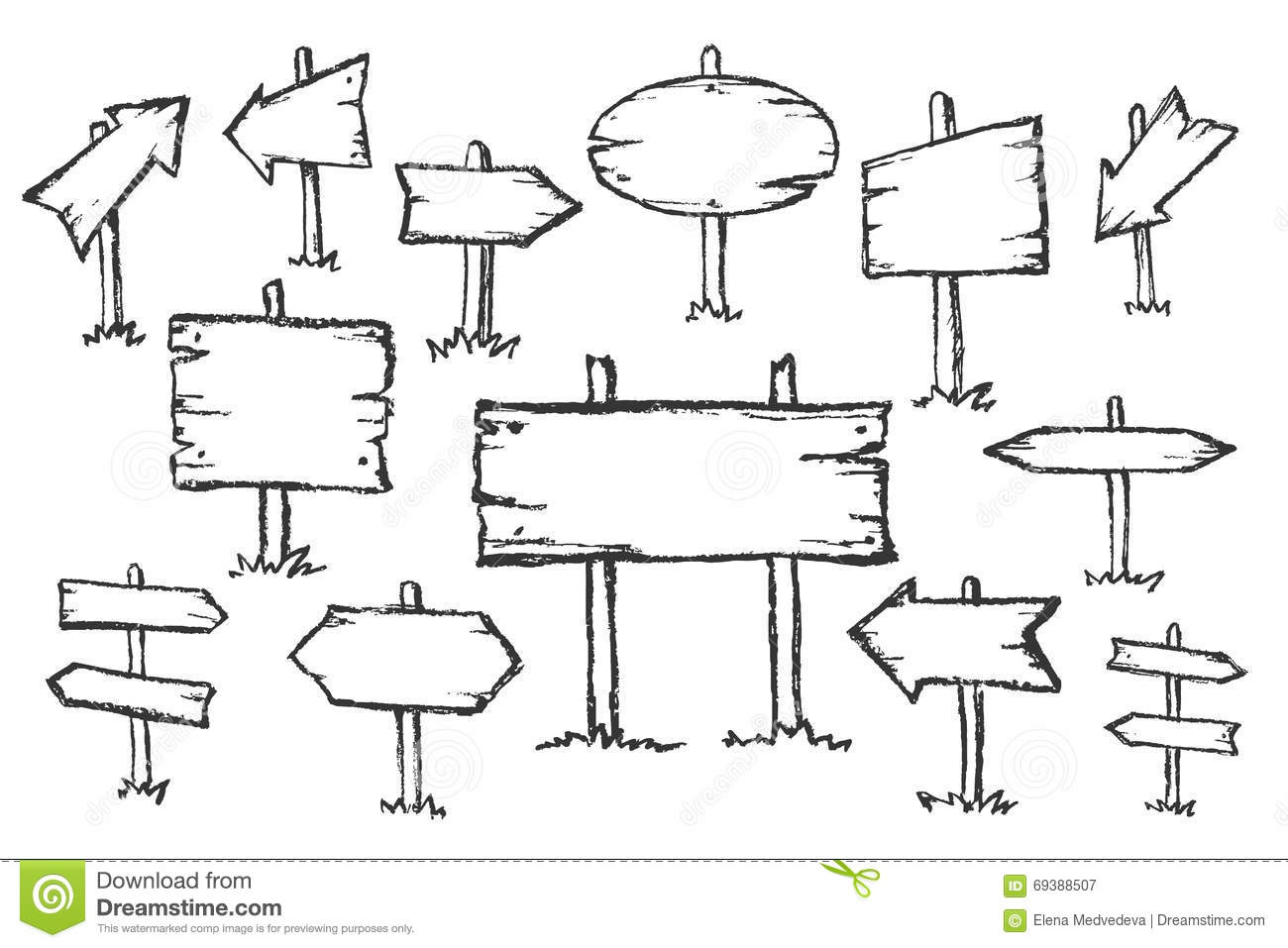 Drawn road doodle 69388507 Doodle Image Signs Hand