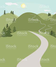 Drawn road high resolution  AVERY'S roads hill art