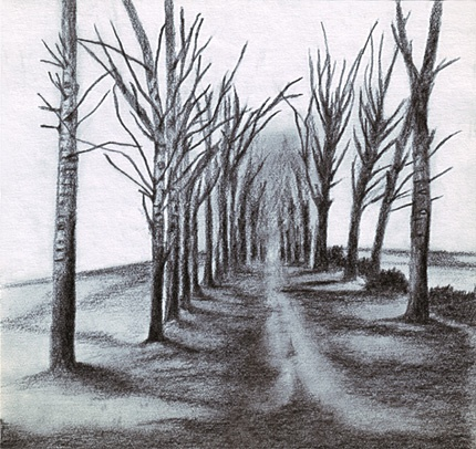 Drawn road pencil drawing Pencil Pencil about artwork on