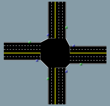 Drawn road road intersection Have varying Road of can