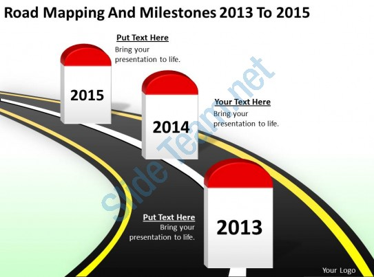 Drawn road road milestone Of For Timeline Product Business