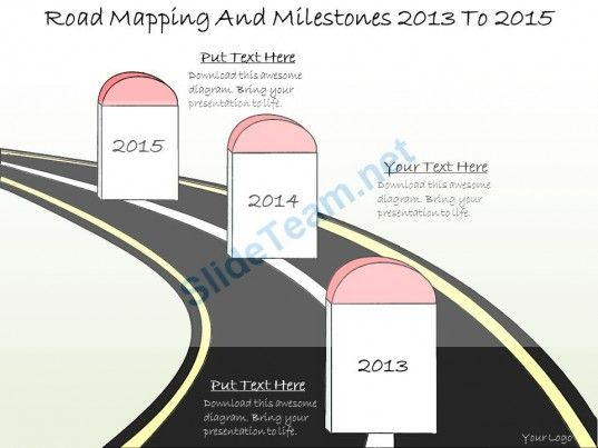 Drawn road road milestone To Milestones on Powerpoint 2013