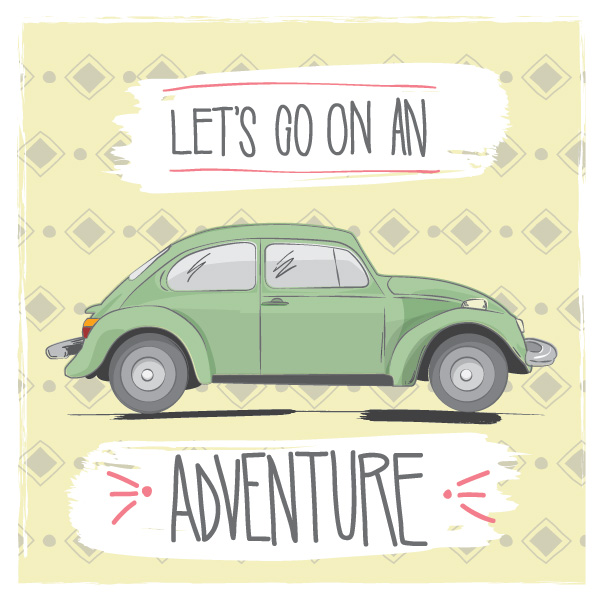 Drawn road road trip Adventure Adventure — Go On