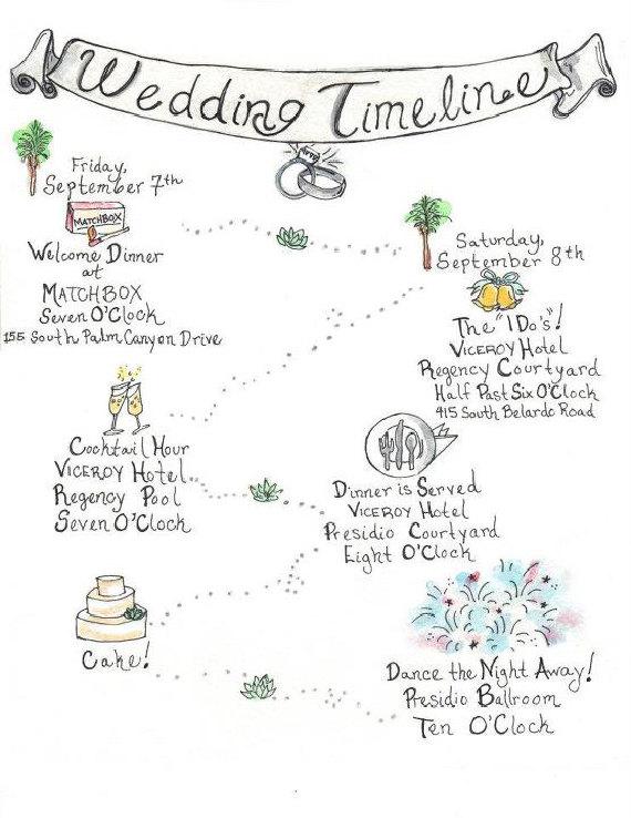 Drawn road timeline By Original Wedding Custom Hand