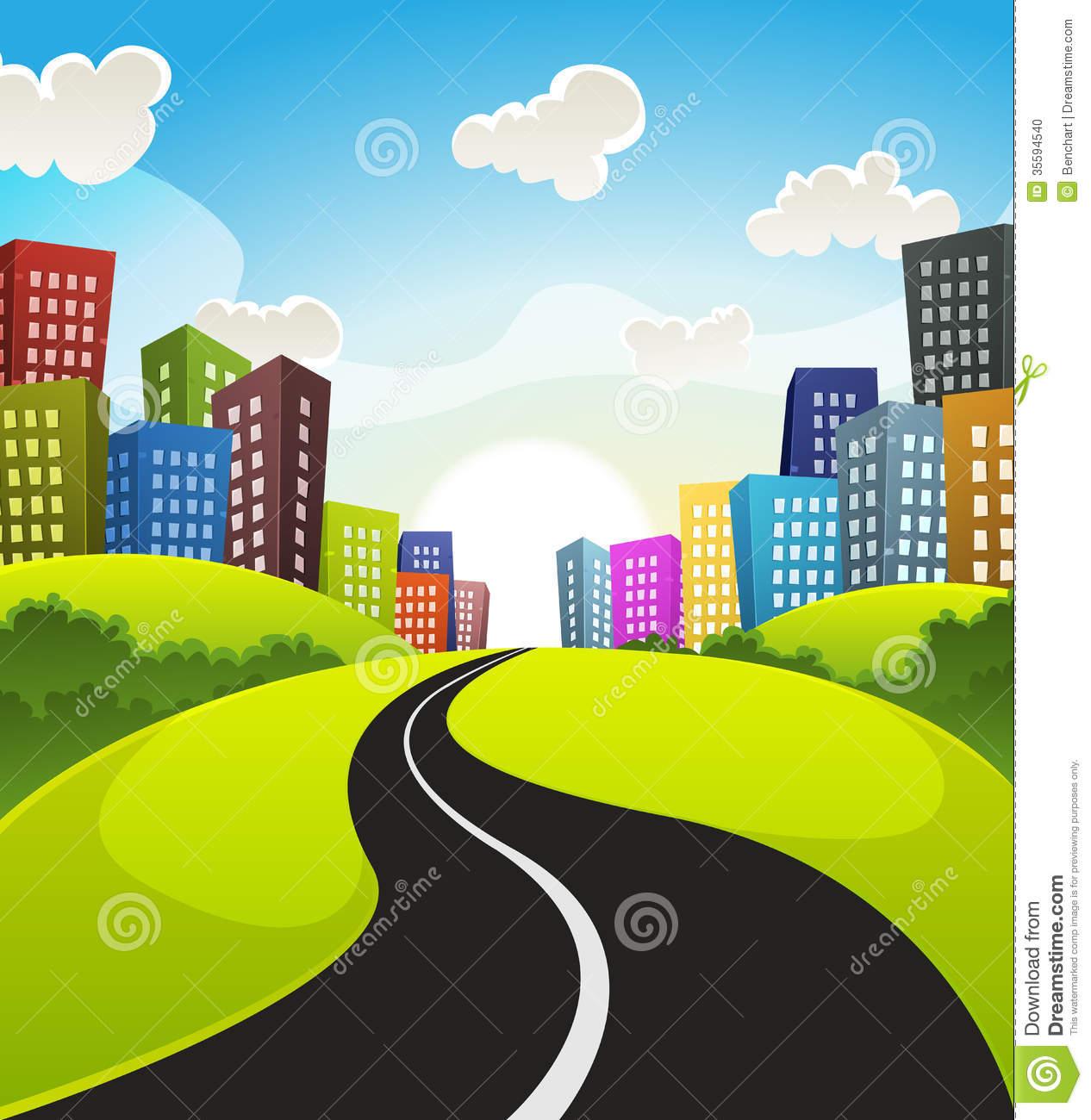 Drawn roadway cartoon Cartoon Road & Long
