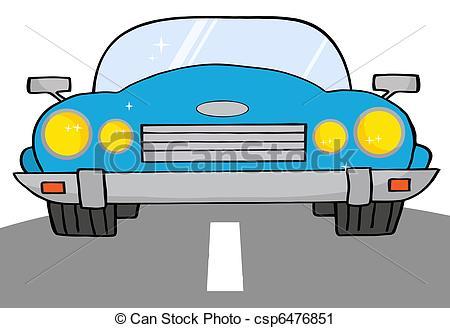 Drawn roadway cartoon Blue Vector A Clip Cartoon