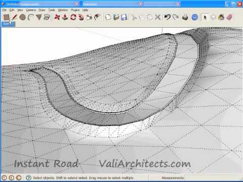 Drawn road curved line From Create Sketchup Road Center