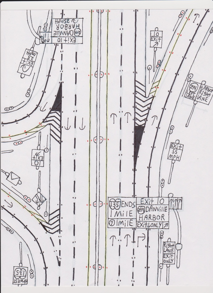 Drawn road freeway LandscapesDrawingRoads on Pinterest 87 Drawings