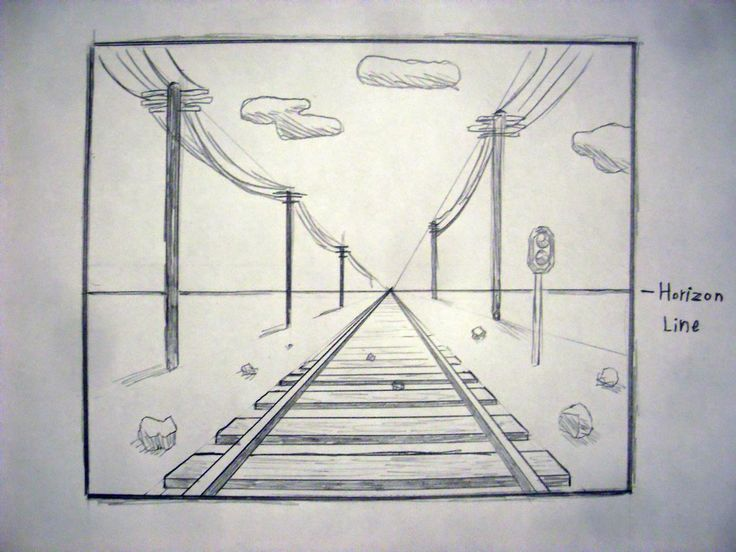 Drawn railroad linear perspective Drawing Pinterest Search Search perspective