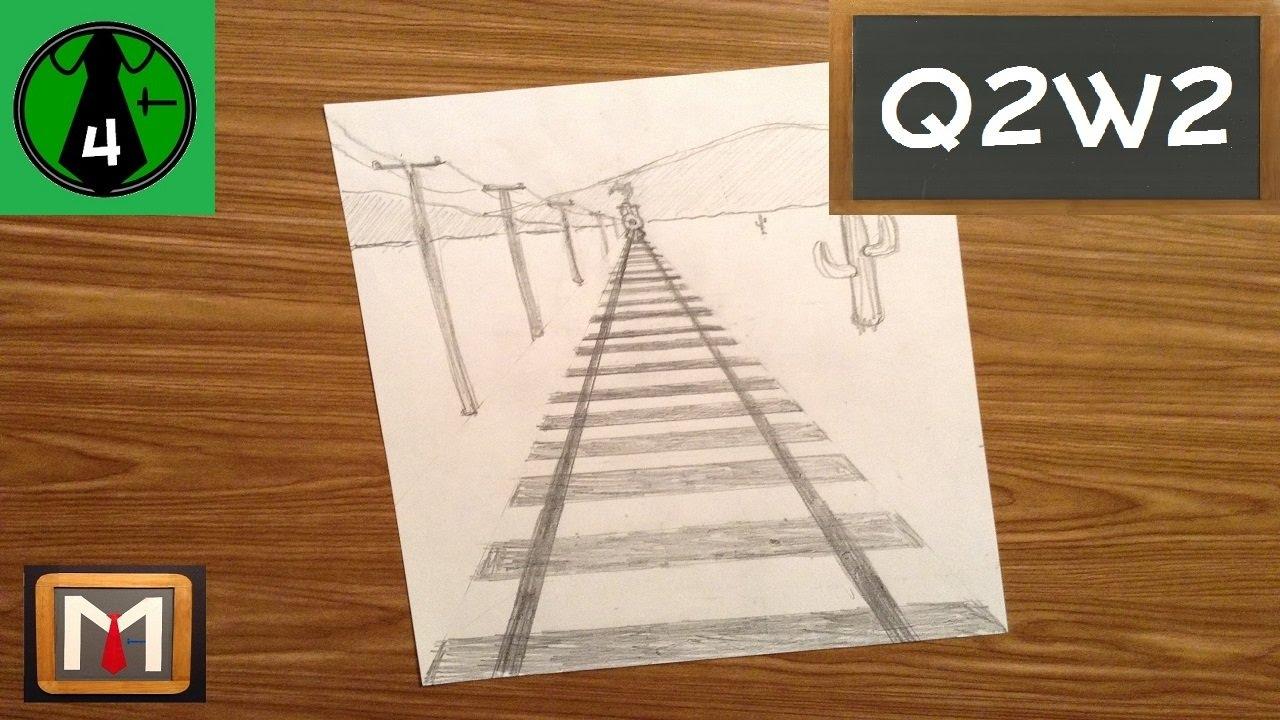 Drawn railroad color Railroad YouTube Draw Perspective Tracks