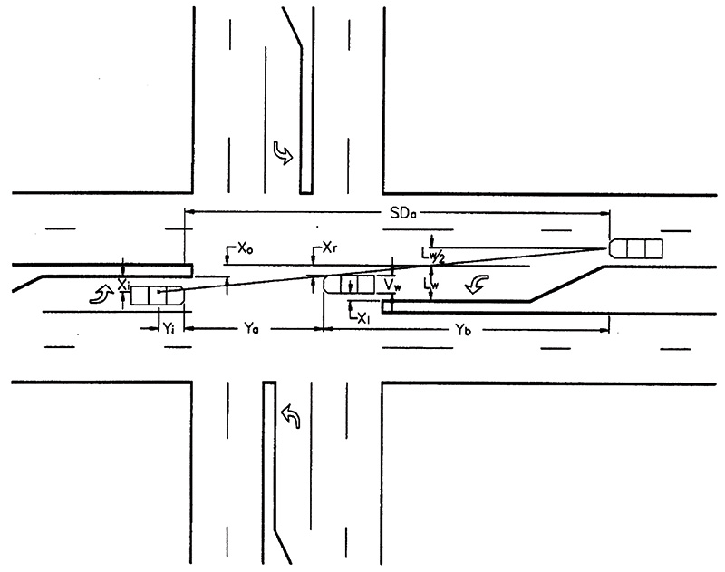 Drawn roadway road intersection Intersection four Federal showing leg
