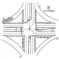 Drawn roadway road intersection News: Highway rise the merging
