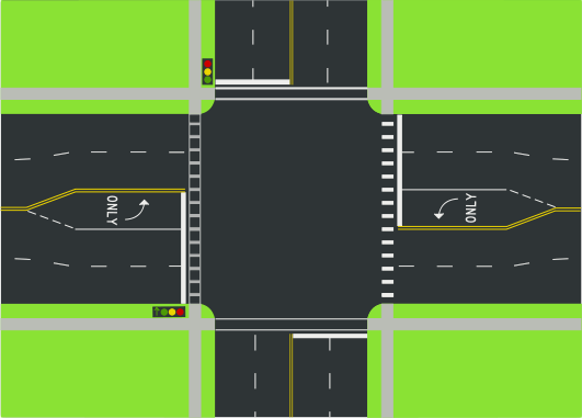 Drawn roadway road intersection Street way Wikipedia The of