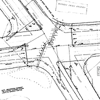 Drawn roadway road intersection Safety drawing Audit Road a
