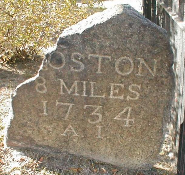 Drawn roadway road milestone Nation continuous History: Highway road