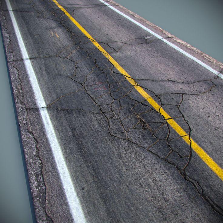Drawn roadway tar road / asphalt road on 151