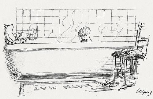 Drawn robin bath Winnie the later Shepard that