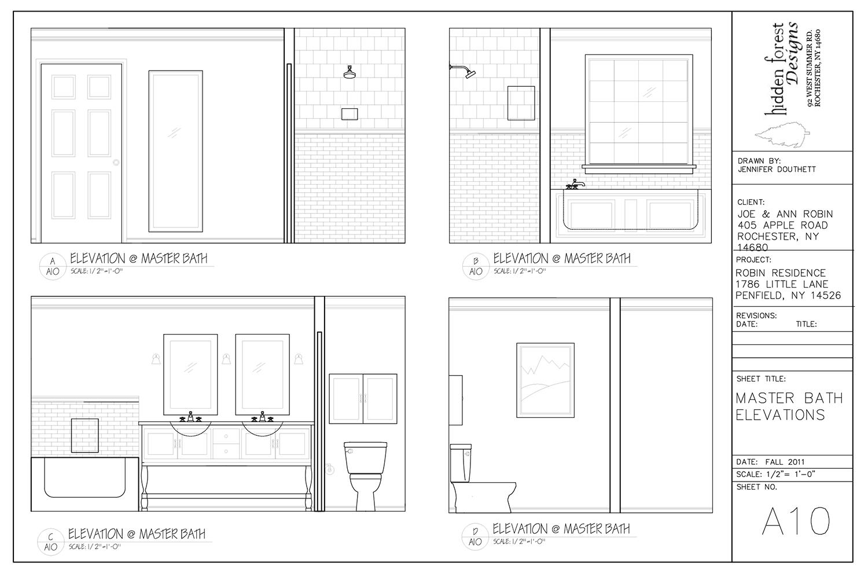 Drawn robin bath Jdldesign Bath Elevations Robin Residence