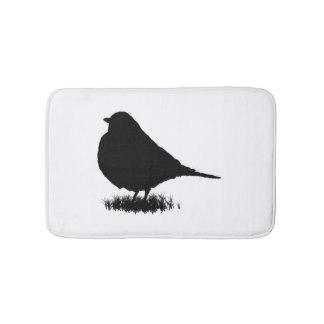 Drawn robin bath Bathroom Silhouette Bath Love Bird