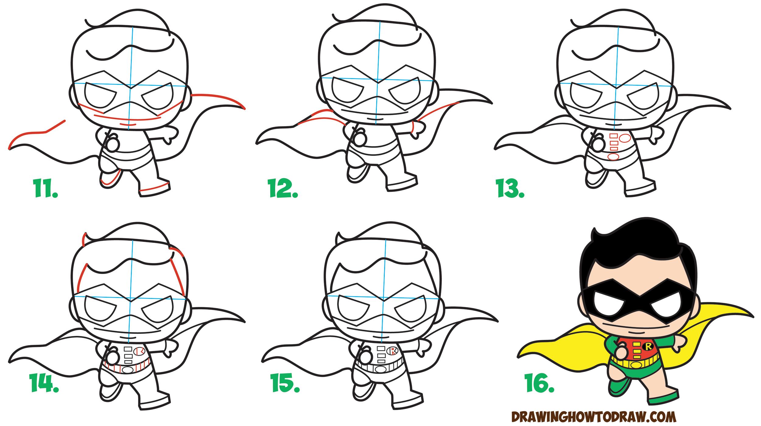 Drawn robin batman drawing / Comics' Comics' Draw Chibi
