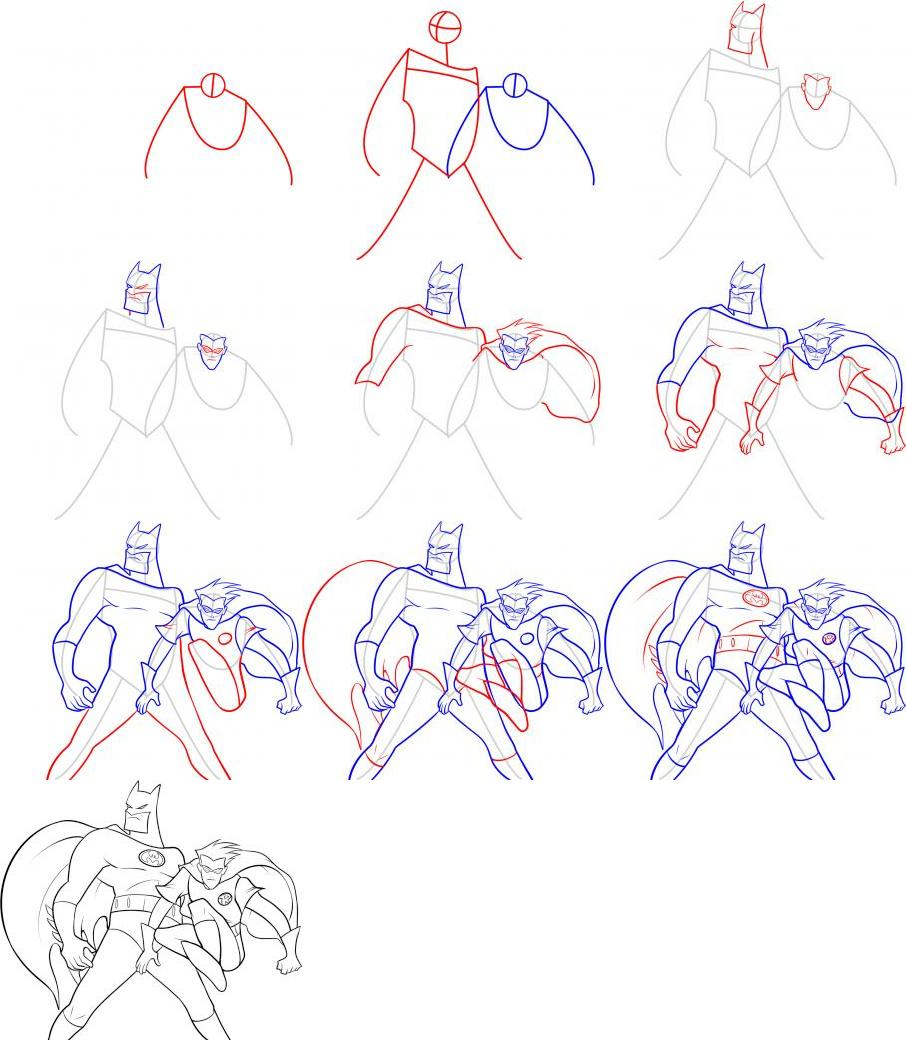 Drawn robin batman drawing Art/Tutorials Draw How How to