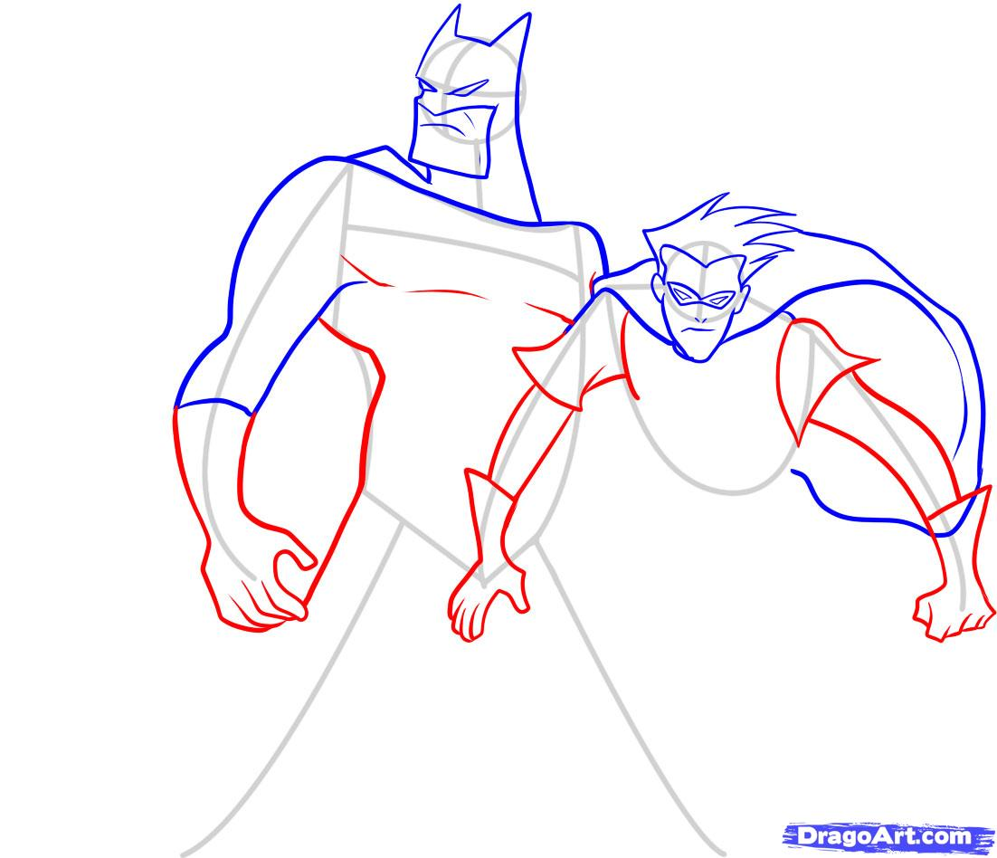 Drawn robin batman drawing And Dc How step how