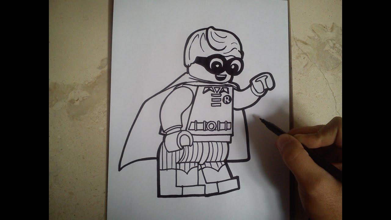 Drawn robin batman drawing To batman LEGO to /