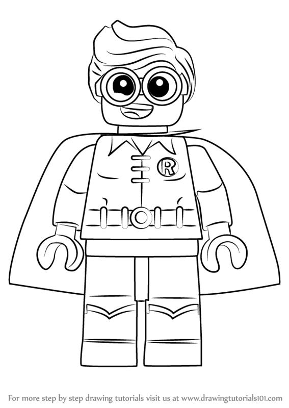 Drawn robin batman drawing  Draw Batman Movie Lego