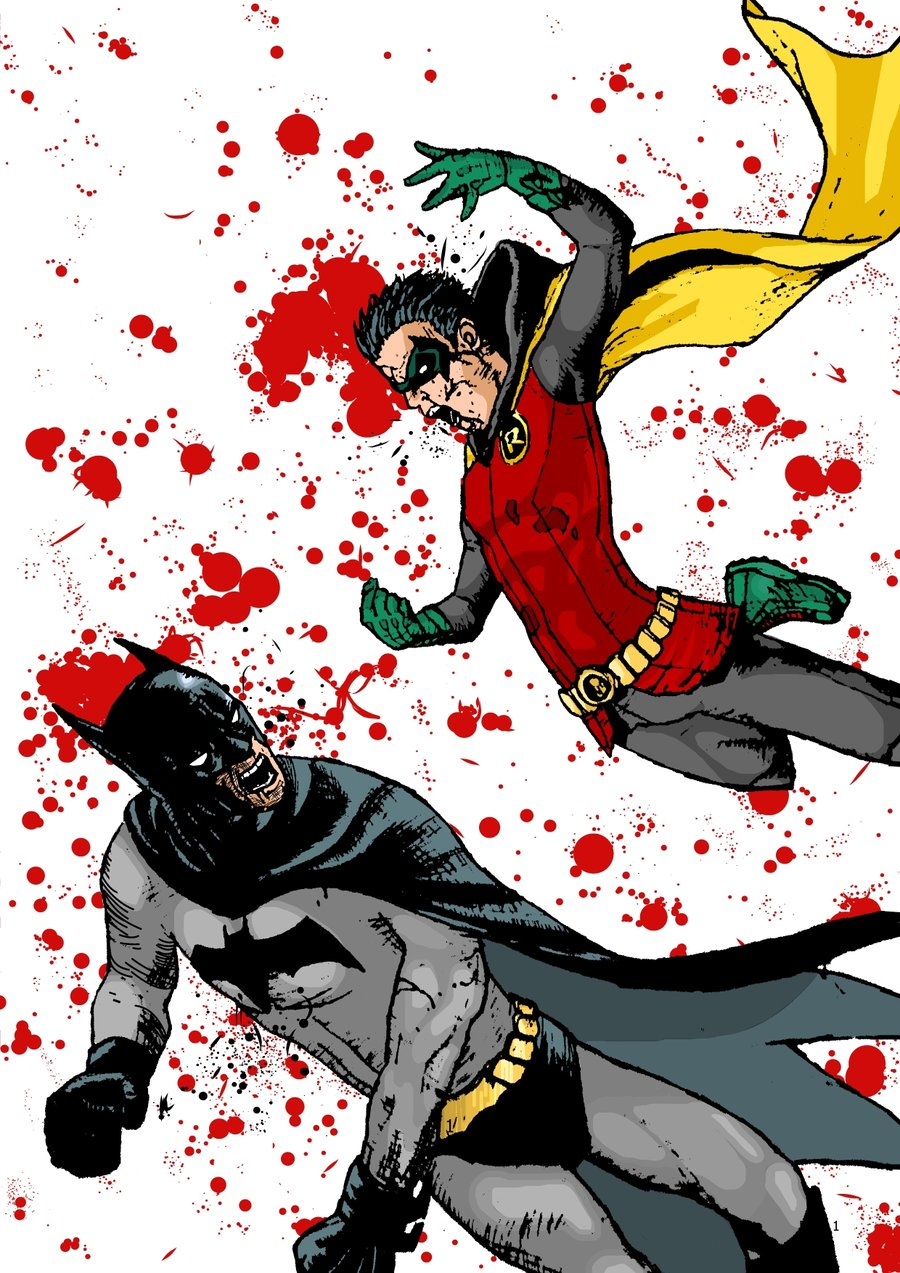 Drawn robin batman drawing  To Guide City From