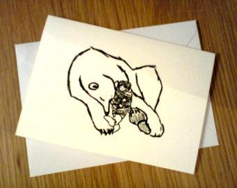 Drawn robin christmas card Cards Hand Polar christmas Xmas