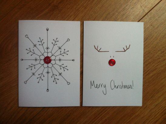 Drawn robin christmas card Idea ideas button cards for