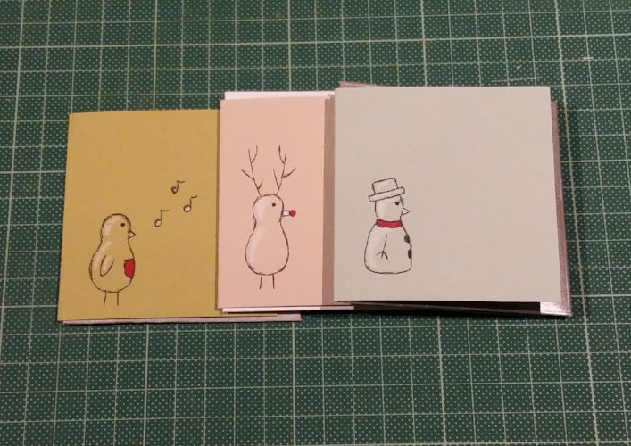 Drawn robin christmas card Cards and Wassell Anne —