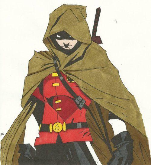 Drawn robin comic book superhero Pin images then then 119