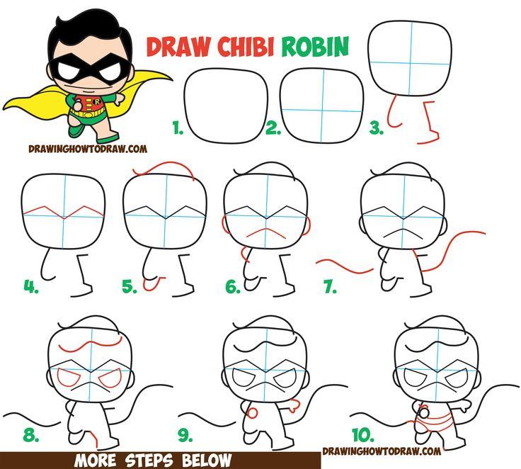 Drawn robin cute Drawing Robin Best from Comics'