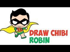 Drawn robin cute Draw DC Tutorial Robin Comics