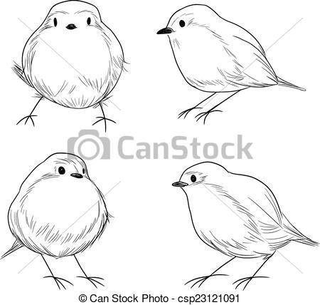 Drawn robin cute  Robin art Bird Art